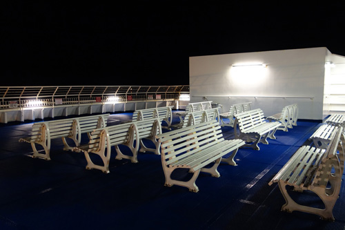 Sun deck of the night ferry from Nova Scotia to Newfoundland